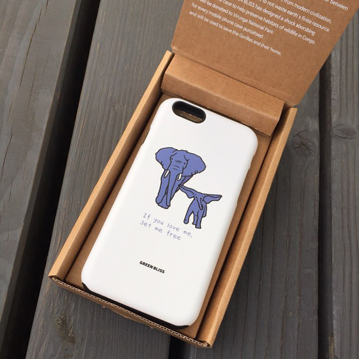 [Phone case] African elephant